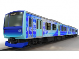 燃料電池列車「HYBARI」(ひばり/HYdrogen-HYBrid Advanced Rail vehicle for Innovation)のイメージ